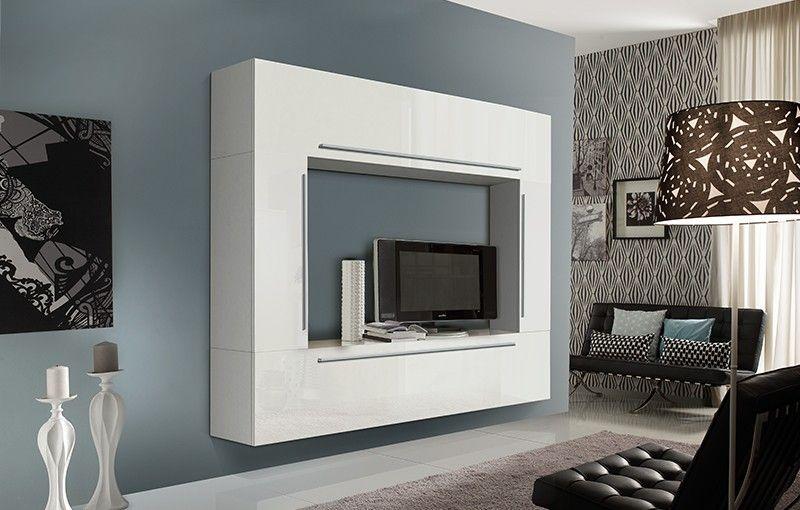 Loft 5 hoogglans wandmeubel kompleet sefa meubel - Plank wandmeubel ...